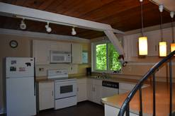 3 bedroom with loft sleeps 8 chalet fully equipped kitchen at Bear Crossing in Gatlinburg TN