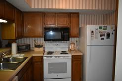 Fully Equipped Kitchen in ths 2 bedroom 2 bath condo at high alpine resort in Gatlinburg