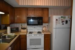 Fully Equipped Kitchen in ths 2 bedroom 2 bath condo at high alpine resort in Gatlinburg