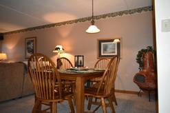 dining area 205 high alpine resort in Gatlinburg close to ski resort