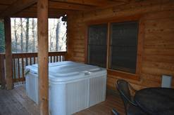 14 Cabin Fever outdoor hot tub