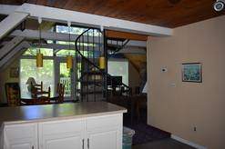 main level on this 3 bedroom with loft A Frame Chalet in Chalet Village Gatlinburg