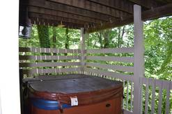 Outdoor Hot Tub in your chalet in Gatlinburg Tn
