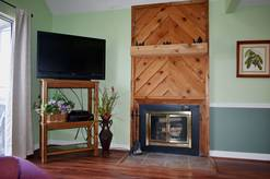 4307 The Summit wood burning fireplace and TV