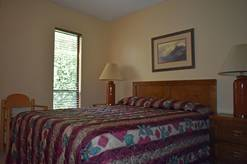 310 High Alpine Resort guest bedroom with queen bed