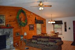74 Life's a Bear Retreat Living area with electric fireplace