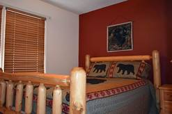 74 Life's a Bear Retreat guest bedroom with queen bed