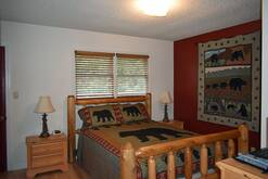 74 Life's a Bear Retreat master bedroom with queen bed