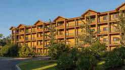 Standard picture of a condo building at Mountain Loft Resort, 1 bedroom deluxe unit with king bed