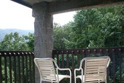 Private balcony with a view of the Smokies at your Gatlinburg condo rental.