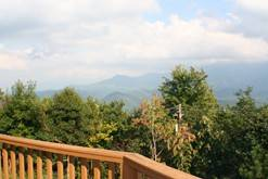 Enjoy the views of the Smokies from your Gatlinburg chalet rentals. at Dream Catcher in Gatlinburg TN