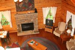 Spacious open floor plan in your Gatlinburg cabins. at Cabin Fever in Gatlinburg TN
