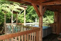 Gatlinburg log cabin with a hot tub. at Gone Fishing in Gatlinburg TN
