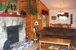 Sit by the fire in your Gatlinburg chalet rental. at Life's a Bear Retreat in Gatlinburg TN