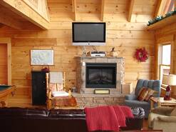 cozy living room in View Ober Gatlinburg Cabin at View Ober Gatlinburg in Gatlinburg TN
