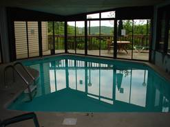 on site indoor pool at ski view mtn resort