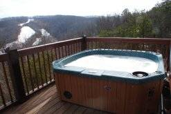 hot tub at View Ober Gatlinburg Cabin at View Ober Gatlinburg in Gatlinburg TN