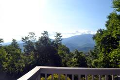 Great view from deck of your Gatlinburg chalet of The Great Smoky Mountains