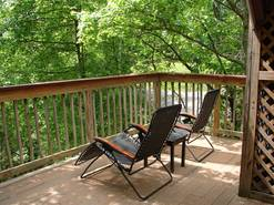 br #2 deck with recliners at When Pigs Fly in Gatlinburg TN