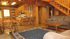 3 bedroom log cabin close to downtown gatlinburg at Gone Fishing in Gatlinburg TN