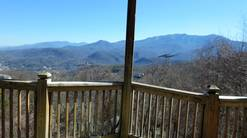 50 birdhouse inn 4 bedroom 4 bath chalet view from hot tub at Birdhouse Inn in Gatlinburg TN