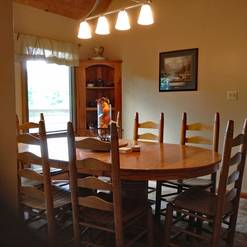 Dining room in 3 bedroom 2 bath chalet