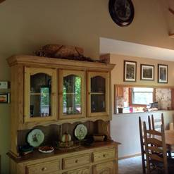 Dining Area in this 3 bedroom 2 bath chalet in Gatlinburg