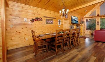 Enjoy family Game Night at the cabin.