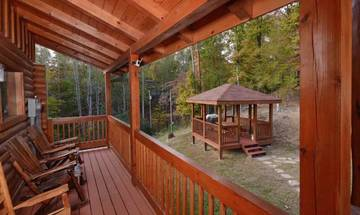 A relaxing view from your Smokies rental cabin.