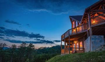 Take in Smoky Mountain sunsets and sunrises from your Tennessee cabin getaway!