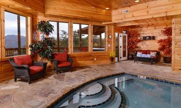 Smoky Mountain vacation rental wit private in-door swimming pool.