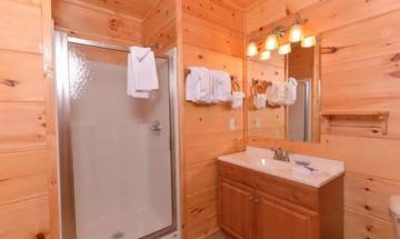Roomy bathrooms with all the amenities of home.