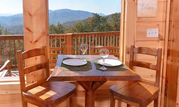 Enjoy a lite breakfast with an awesome view of the Smoky Mountains.