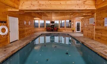 Swimming pool getaway in the Tennessee Smokies.