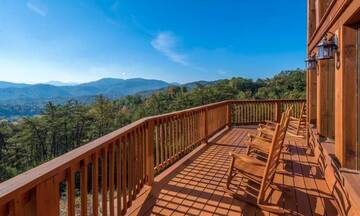Looking for a great area to tan, your Smokies cabin has plenty of area.