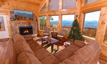 Breathtaking mountain views from your rental cabin in the Smokies.