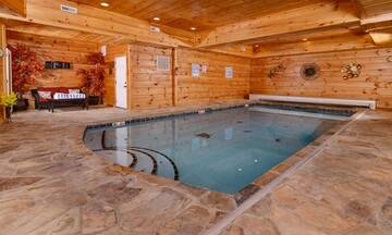 swimming pool inside cabin