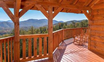 Lots of porch area for taking in terrific Smoky Mountain views.