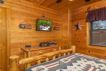 Watch what you like on your Pigeon Forge cabin's bedroom televisions.