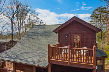 Upper exterior of your Pigeon Forge rental cabin.