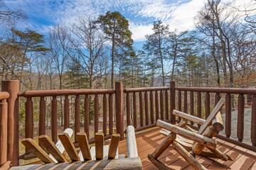 Seasonal Smoky Mountains deck view from your cabin rental.
