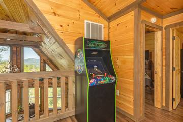 Your cabin video arcade is sure to bring smiles to some family members.