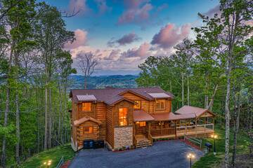 The Appalachian, a 5 bedroom cabin in the Smokies of Tennessee.