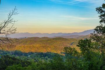 Let go of the everyday and take in endless Smoky Mountain views from your 5 bedroom log cabin, The Appalachian.
