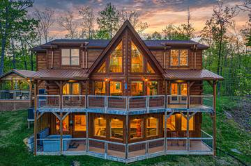 Tennessee Smoky Mountains 5BR rental cabin called The Appalachian.