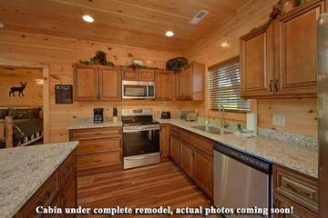 Splashin in the Smokies will feature a fully equipped kitchen.