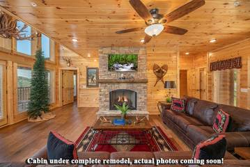 Pictures coming soon for Splashin in the Smokies cabin's living room.