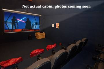 Rental cabin in the Smokies with a home movie theater coming soon!