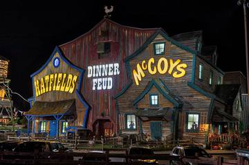 Pigeon Forge's Hatfields and McCoy's Dinner Show.