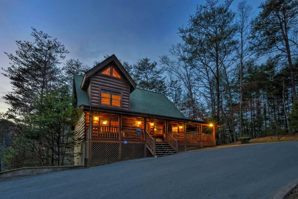 Cabin Exterior Night